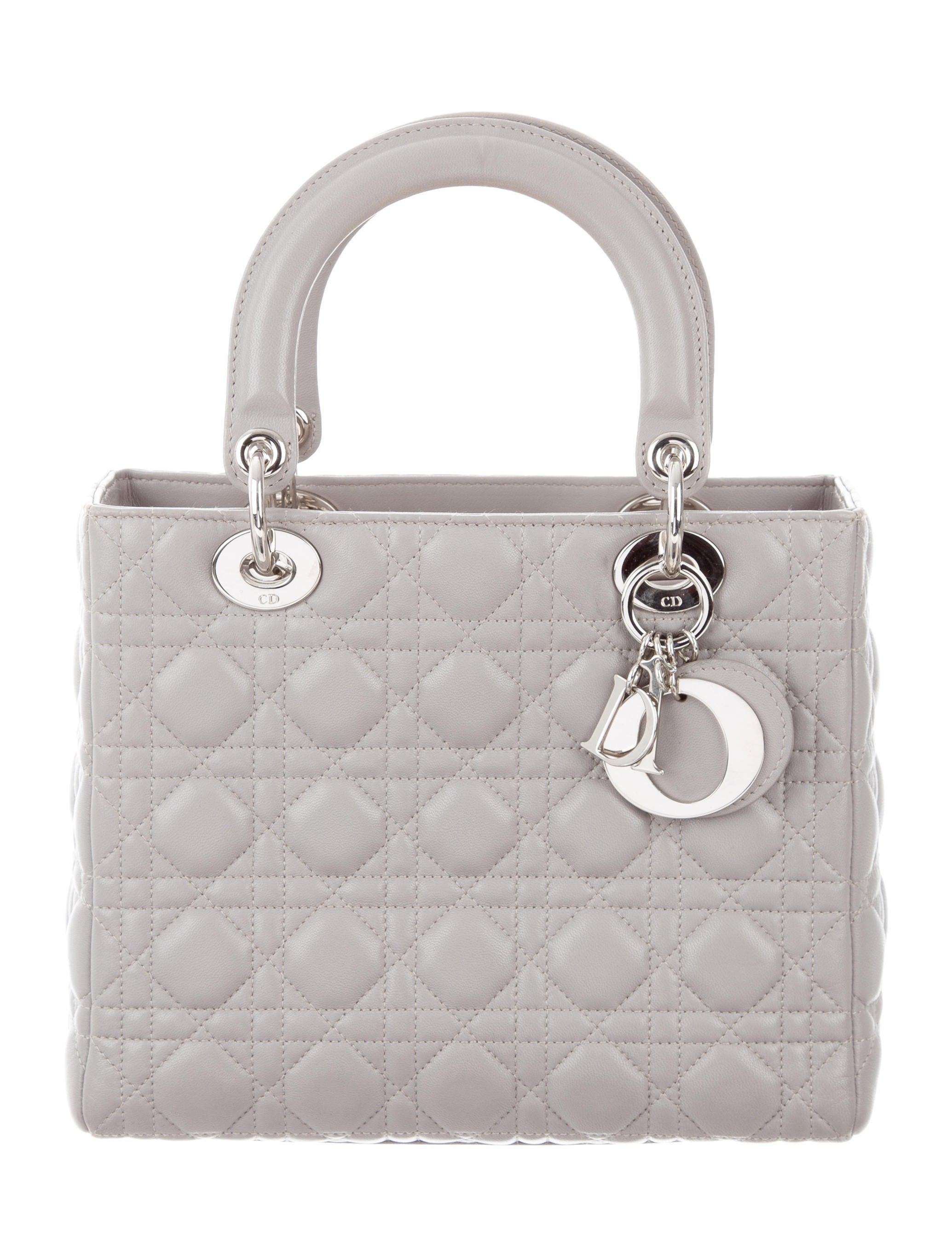 christian dior medium lady dior bag handbags chr58524 the realreal. Black Bedroom Furniture Sets. Home Design Ideas