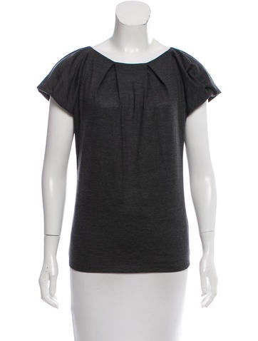 Christian Dior Short Sleeve Wool Top None