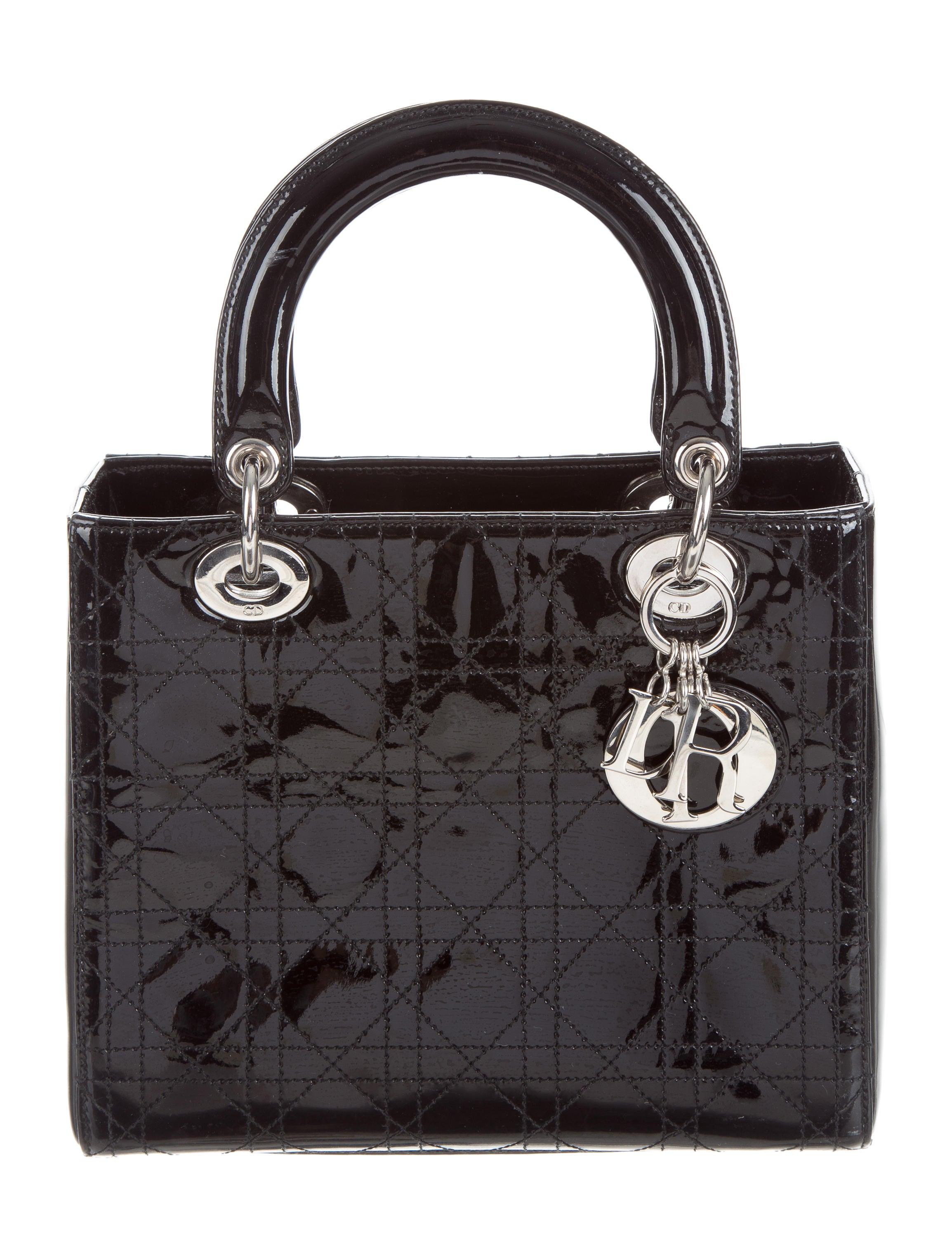7ea39b9b7466 Christian Dior Patent Medium Lady Dior Bag - Handbags - CHR58764 | The  RealReal