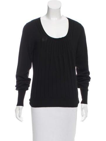 Christian Dior Rib Knit Wool Top None