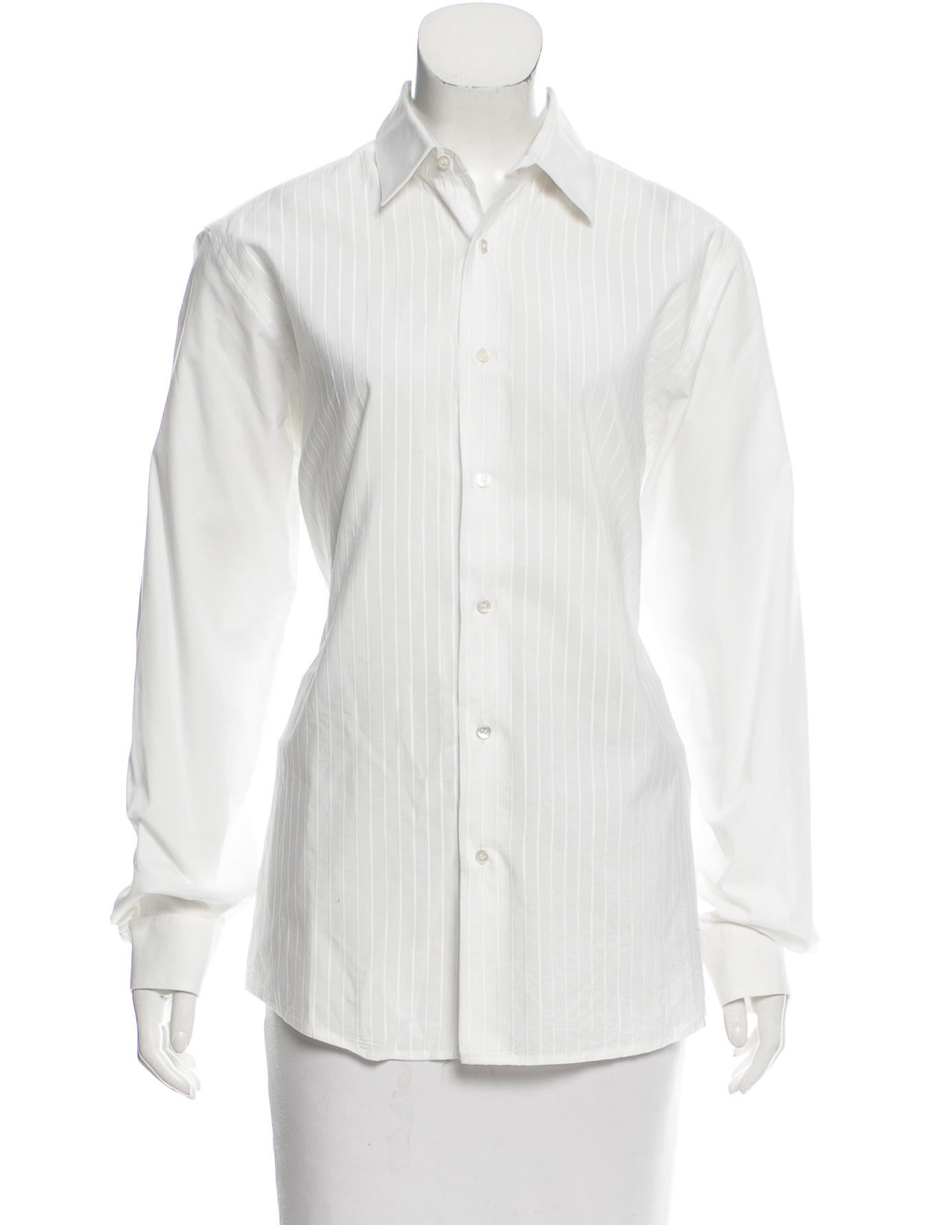Christian dior poplin button up top clothing chr58980 for Christian dior button up shirt