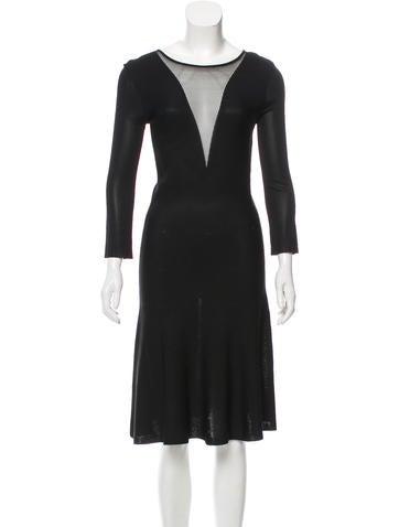 Christian Dior Knit Midi Dress None