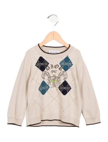 Christian Dior Boys' Logo Printed Sweater None
