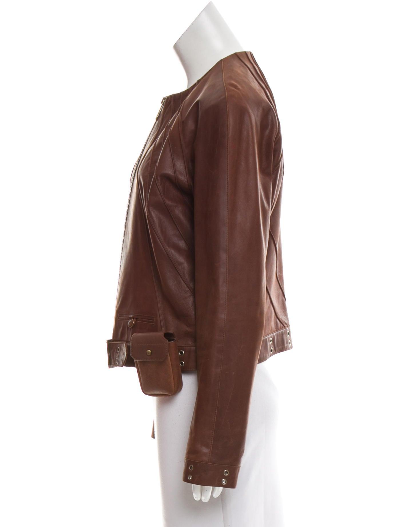 Christian Dior Leather Grommet Jacket