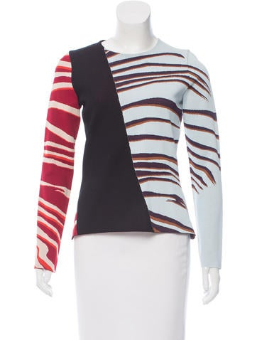 Christian Dior Long Sleeve Zebra Top w/ Tags None