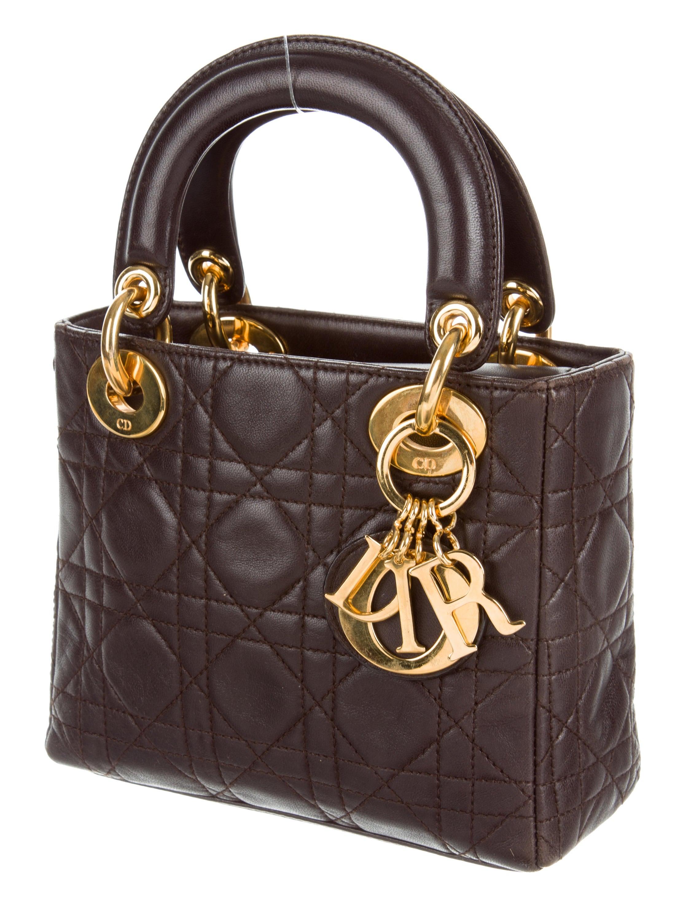 christian dior mini lady dior bag handbags chr59545 the realreal. Black Bedroom Furniture Sets. Home Design Ideas