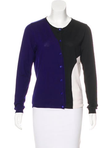 Christian Dior Wool Colorblock Cardigan None