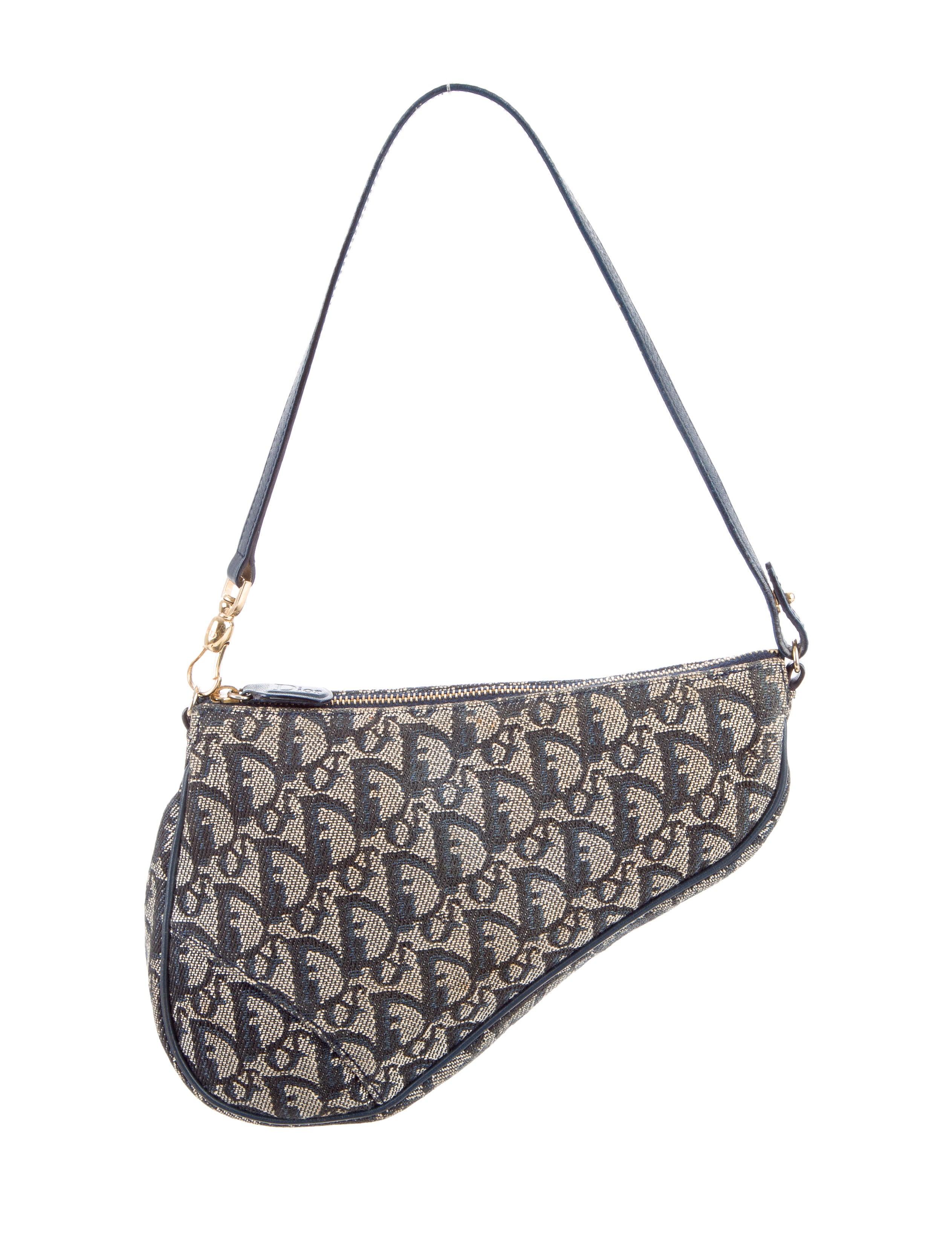 6ea24b3f851 Christian Dior Oblique Saddle Bag - Handbags - CHR59675 | The RealReal