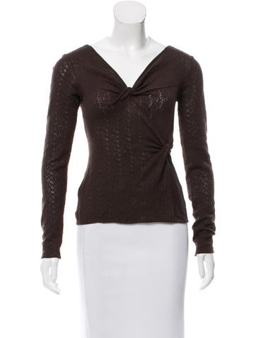 Christian Dior Wool Long Sleeve Top None