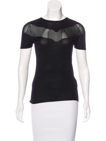 Christian Dior Cashmere Short Sleeve Top None
