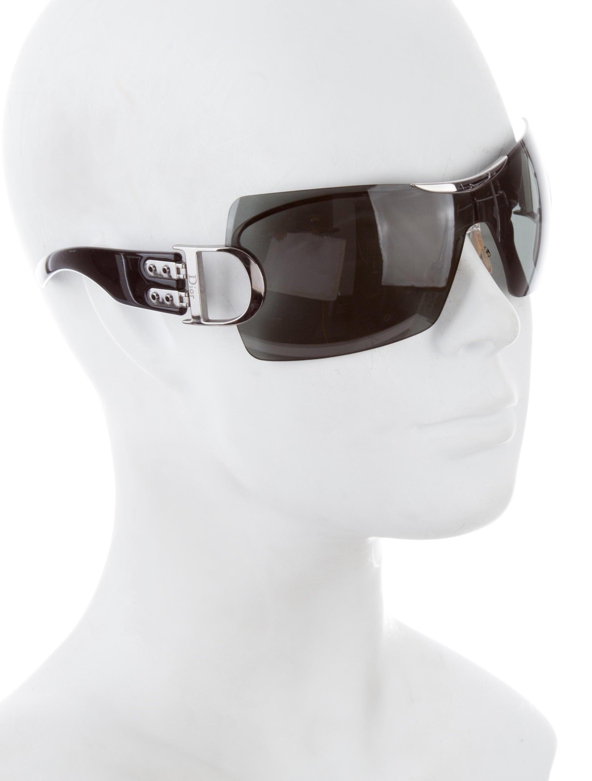 6581b02a42f Christian Dior Oversized Shield Sunglasses
