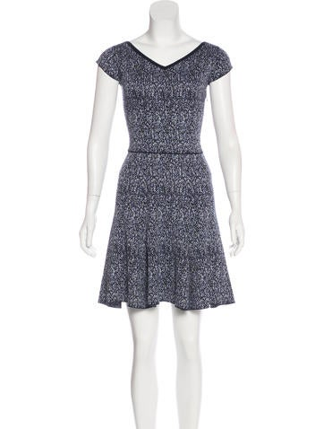 Christian Dior Silk-Blend Mélange Dress None