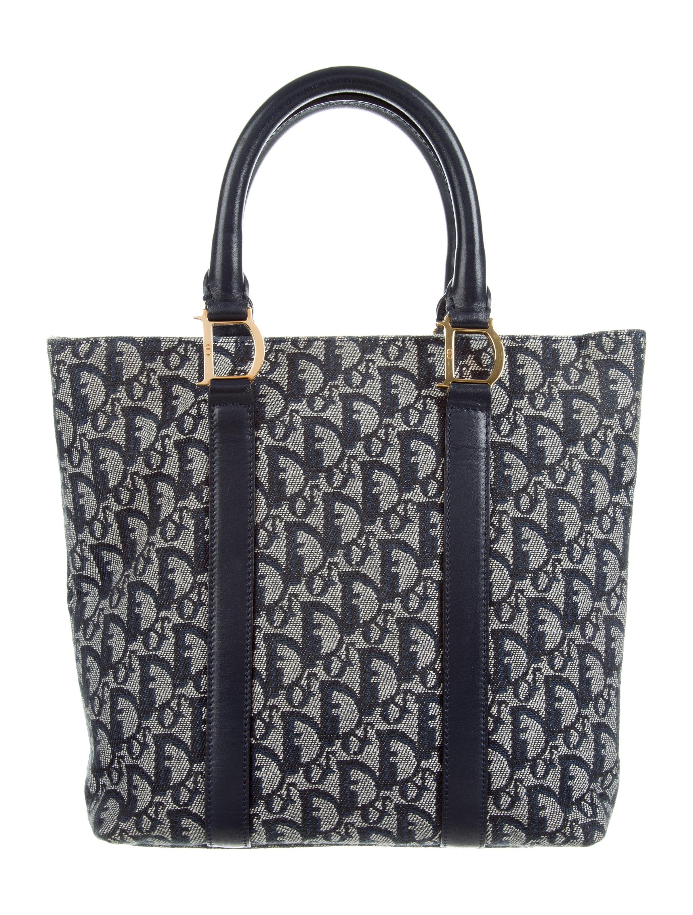 Christian Dior Jacquard Diorissimo Tote - Handbags - CHR60127  1088409da35c2