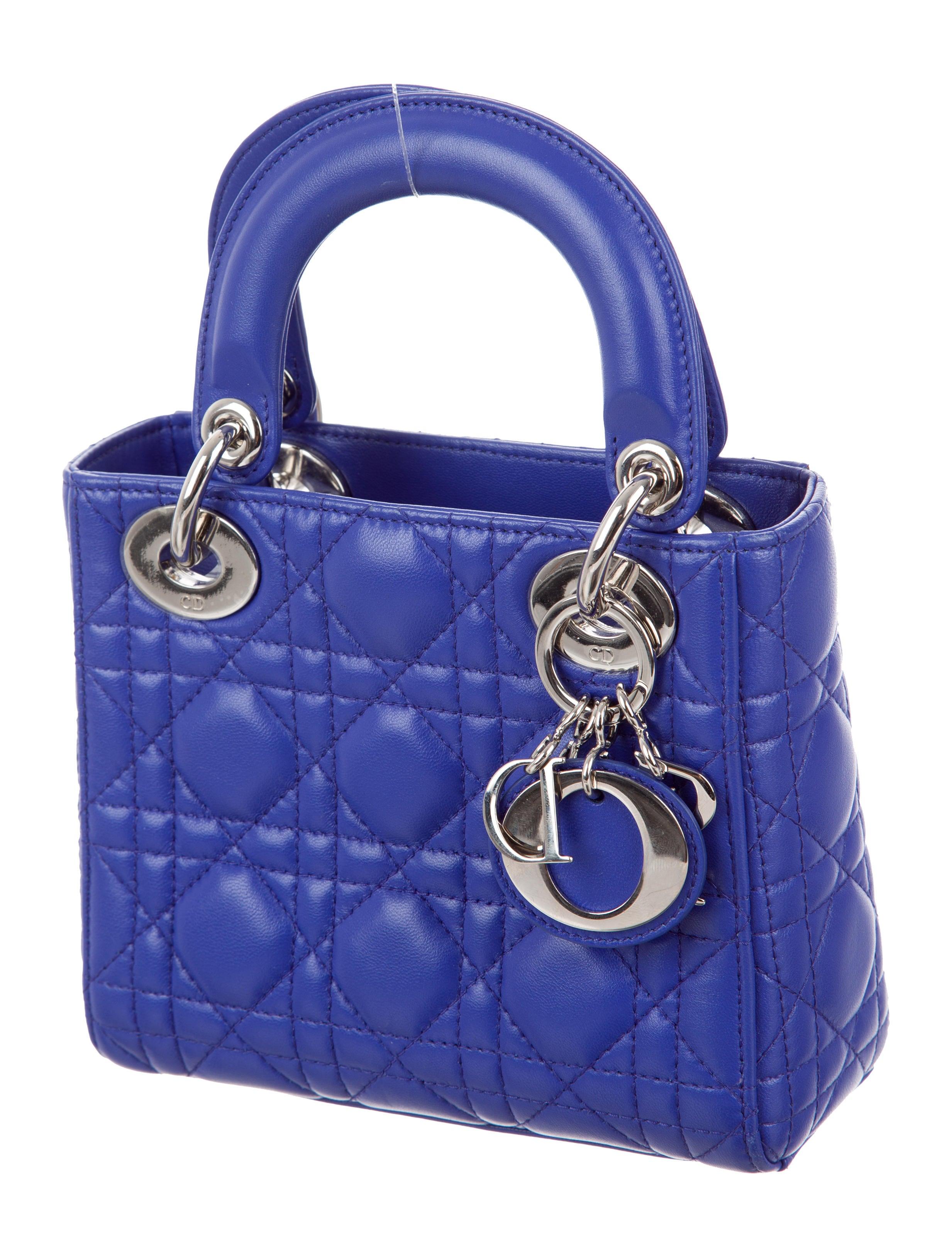 christian dior mini lady dior bag handbags chr60359 the realreal. Black Bedroom Furniture Sets. Home Design Ideas