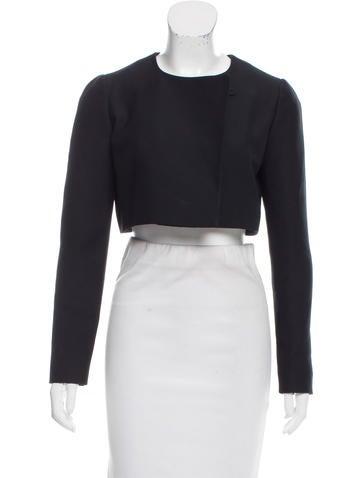 Christian Dior Wool Crop Jacket None