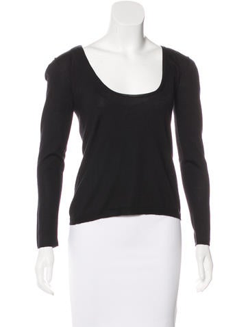 Christian Dior Open Back Knit Top None