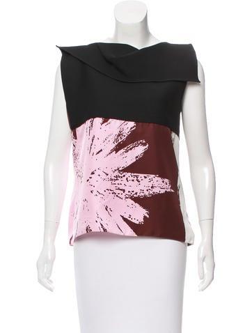 Christian Dior Wool & Silk-Blend Printed Top None