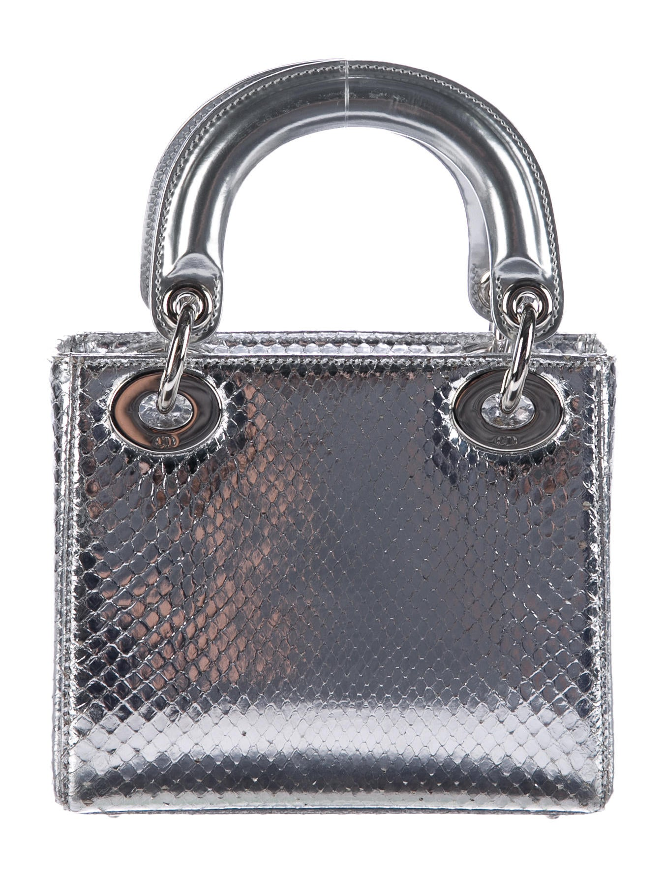 christian dior mini python lady dior bag handbags chr60593 the realreal. Black Bedroom Furniture Sets. Home Design Ideas