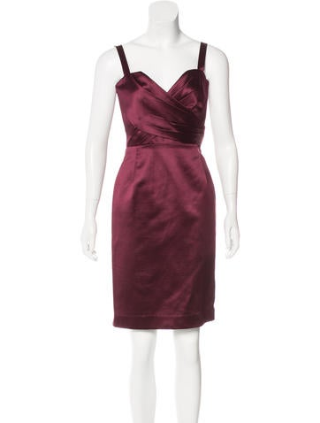Christian Dior Silk-Blend Pleated Dress None