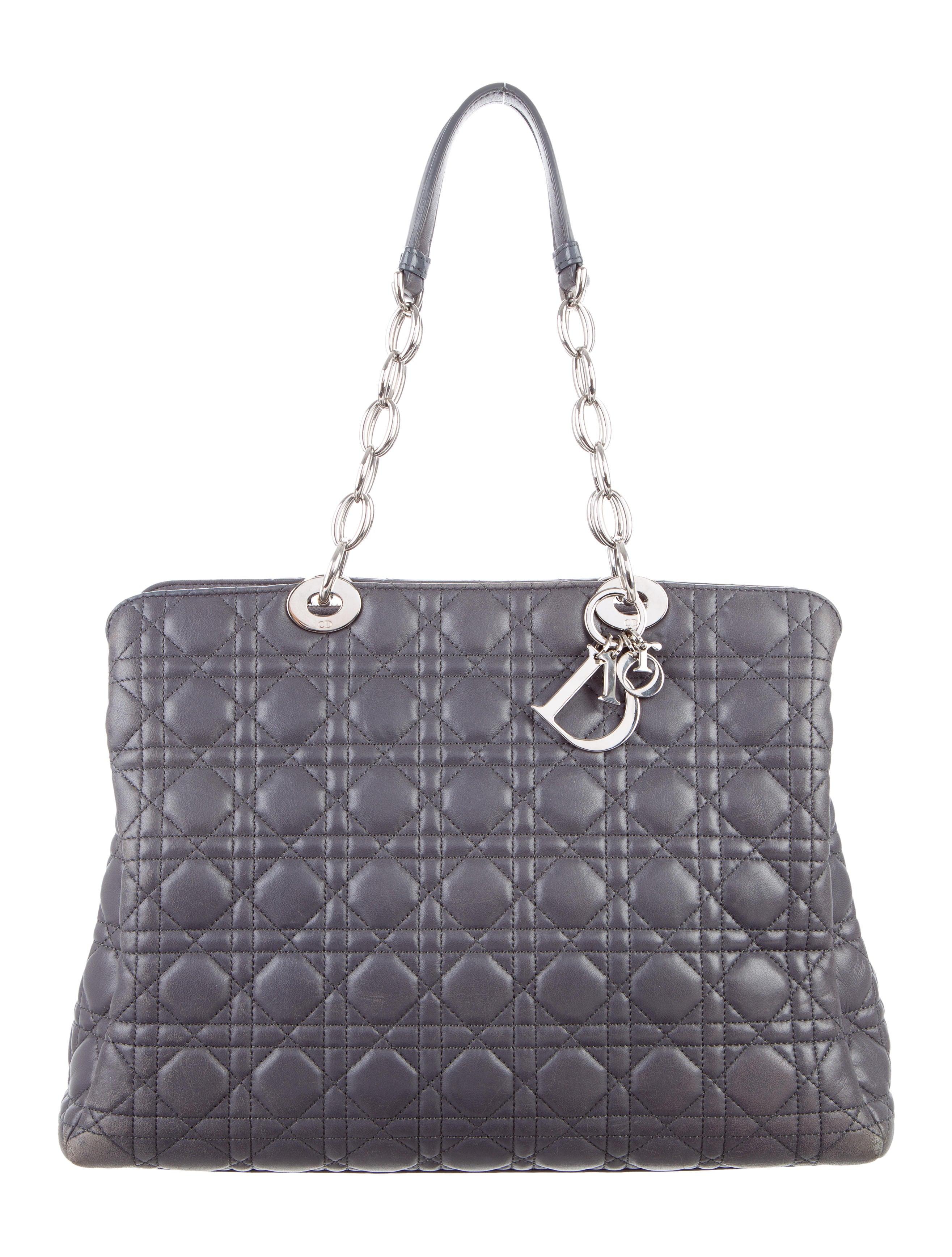 Christian Dior Soft Lady Dior Shopper - Handbags ...