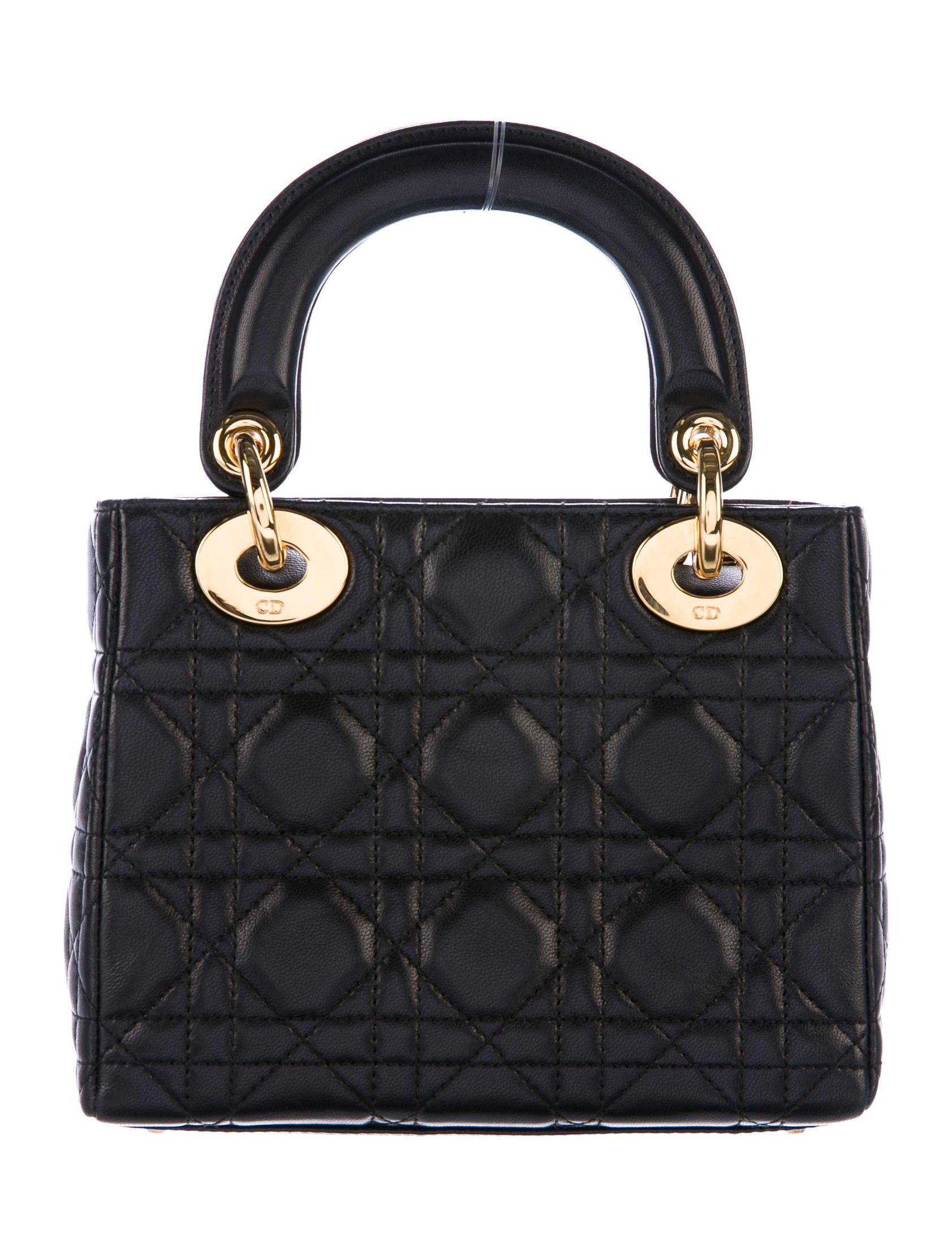 Christian Dior Vintage Mini Lady Dior Bag Handbags