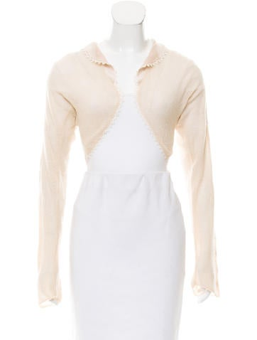 Christian Dior Cashmere Open-Front Cardigan None