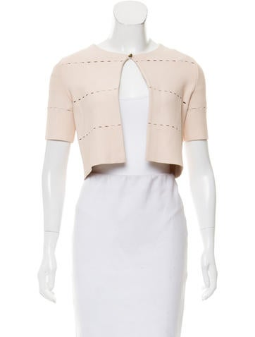 Christian Dior Knit Short-Sleeve Cardigan None