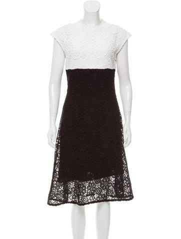 Christian Dior Guipure Lace Midi Dress None