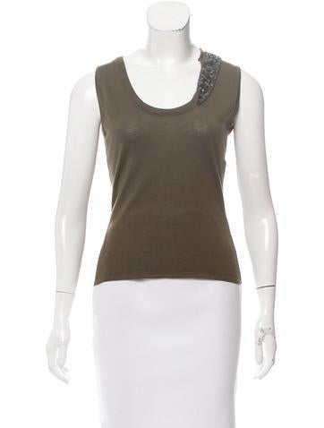 Christian Dior Embellished Wool Top None