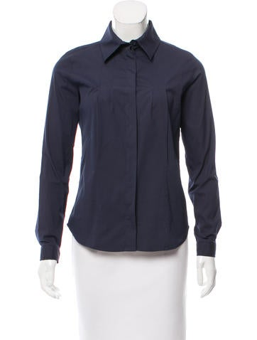 Christian Dior Button-Up Long Sleeve Top None