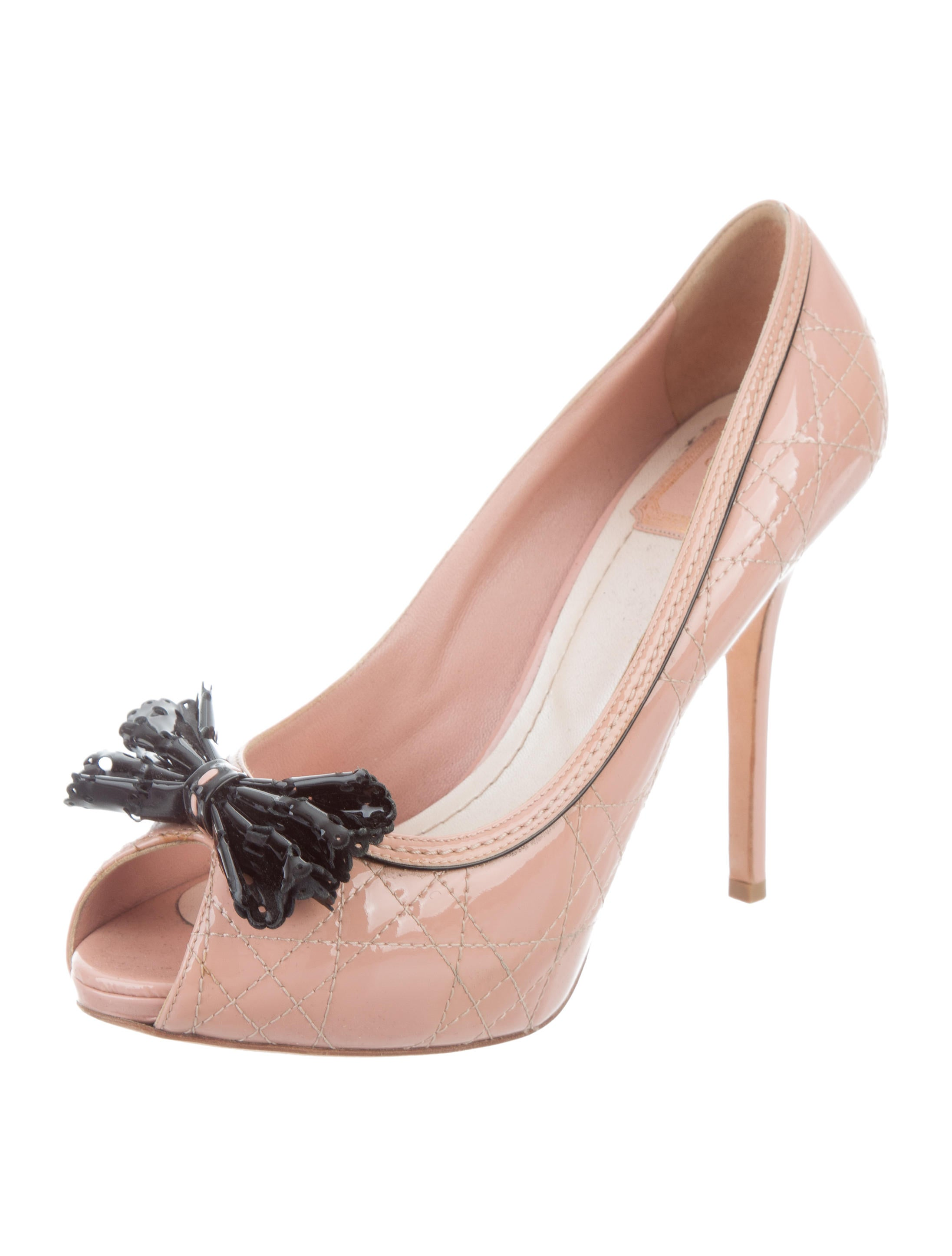 aa047172329d37 Christian Dior Cannage Bow-Accented Pumps free shipping professional big  sale cheap online free shipping