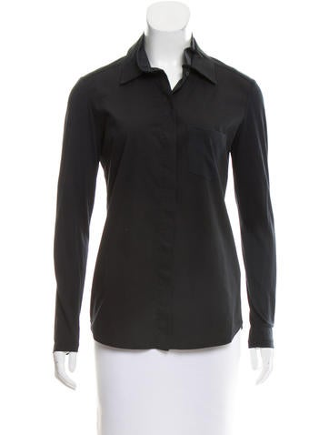 Christian Dior Long Sleeve Button-Up Top None