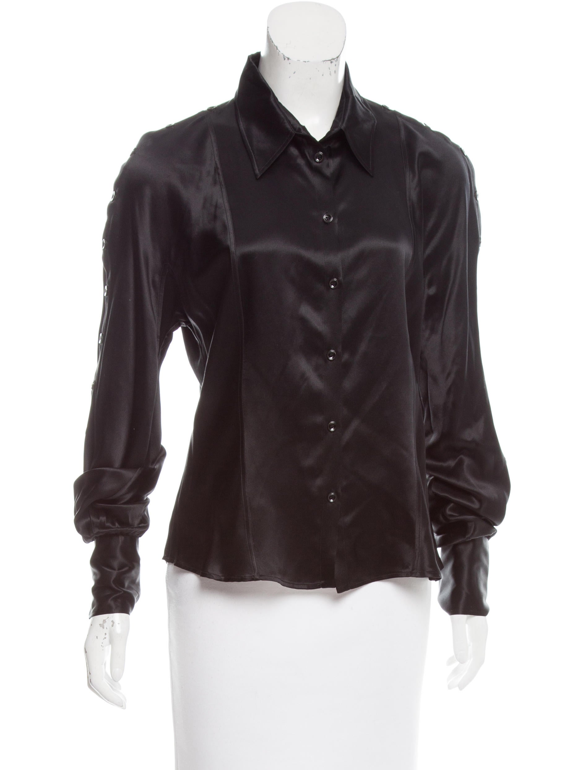 Christian dior silk button up top clothing chr61205 for Christian dior button up shirt