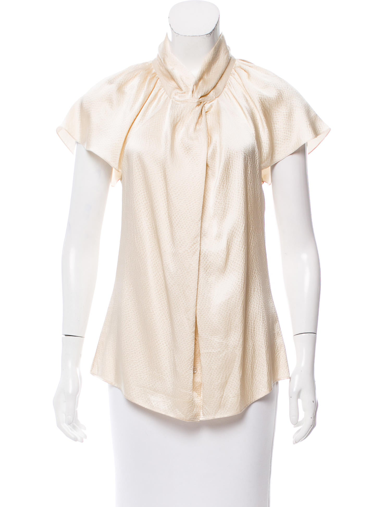 Christian dior silk button up top clothing chr61286 for Christian dior button up shirt