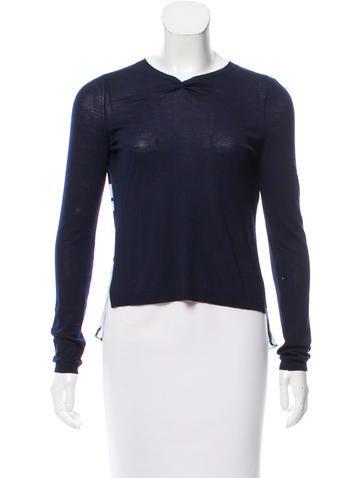 Christian Dior Wool & Silk Top None