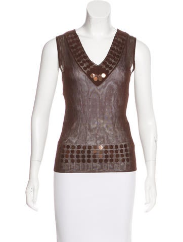 Christian Dior Embellished Sleeveless Top None