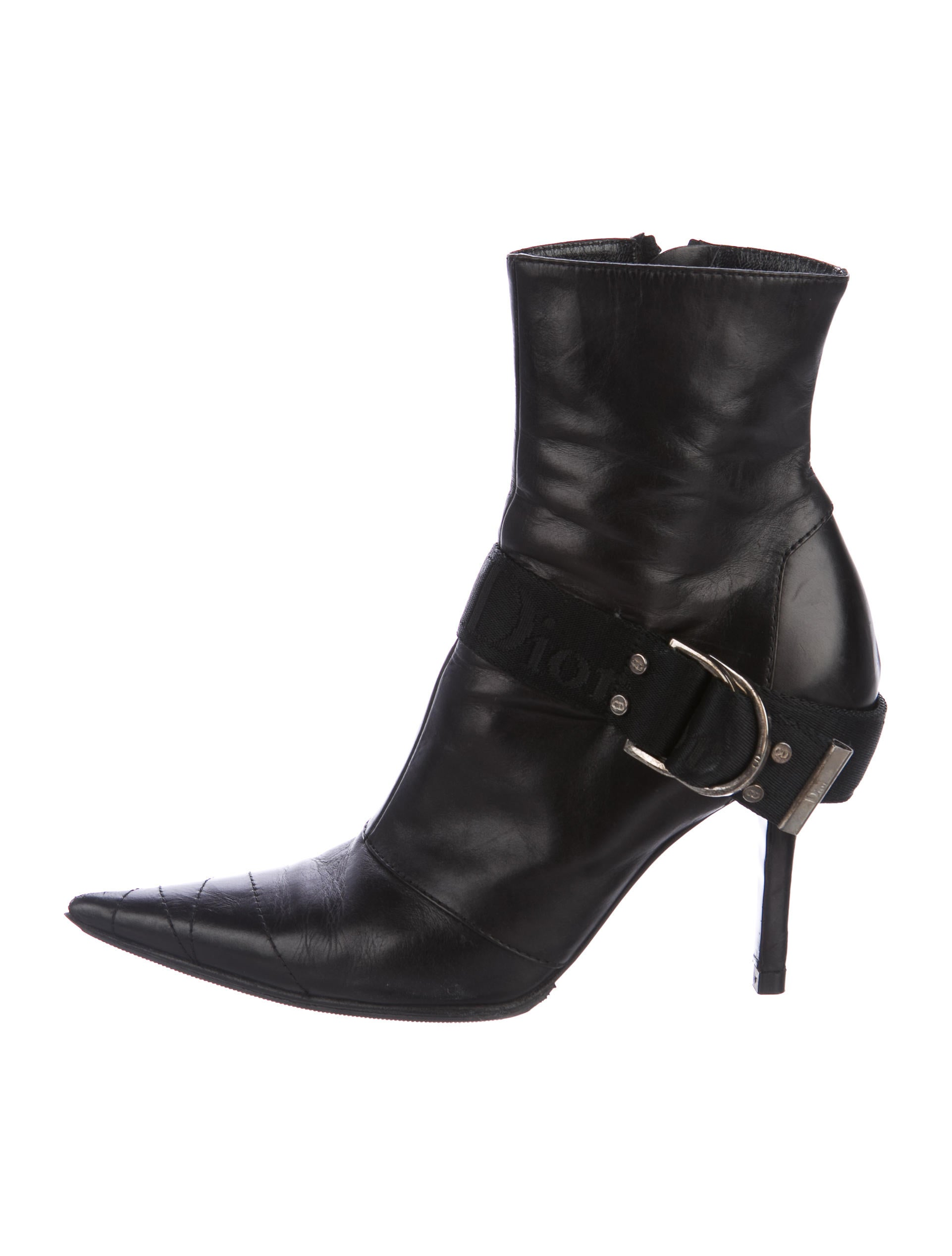 huge surprise for sale Christian Dior Leather Pointed-Toe Booties outlet with mastercard free shipping brand new unisex outlet footlocker finishline with paypal cheap online hZ7T19N