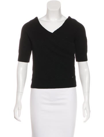 Christian Dior Cashmere Off-The-Shoulder Sweater None