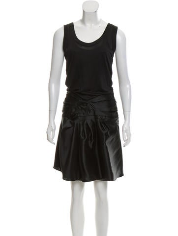 Christian Dior Pleated Silk Dress None