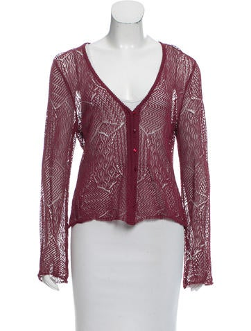 Christian Dior Open Knit Cardigan None