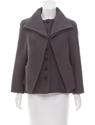 Christian Dior Long Sleeve Wool Jacket None