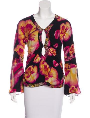 Christian Dior Silk Long Sleeve Top None