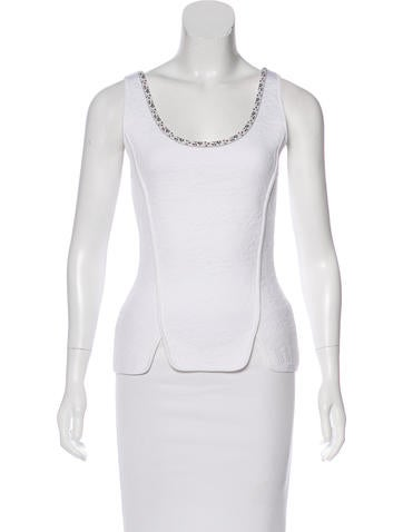 Christian Dior Jacquard Sleeveless Top None