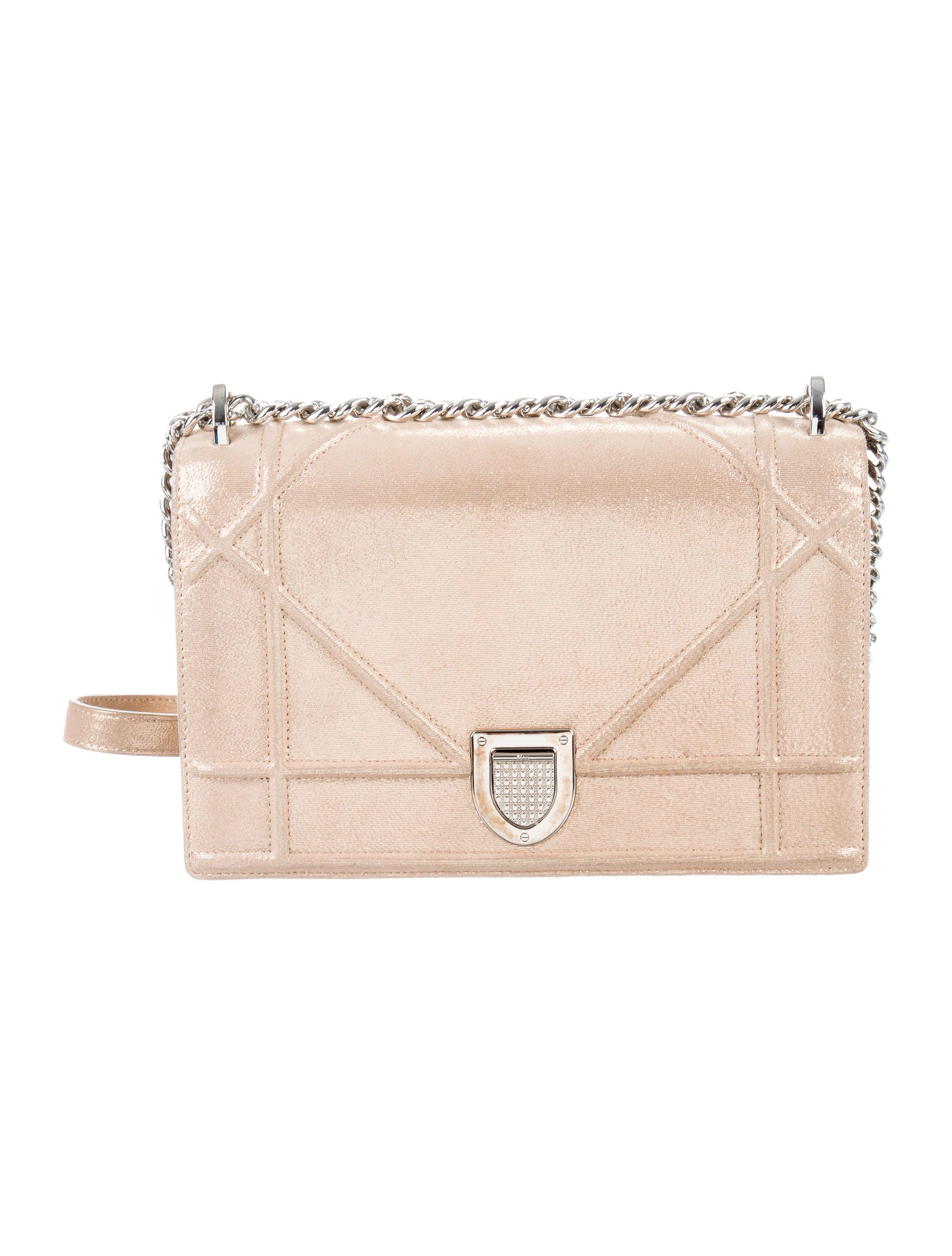 d349951beaf86c Christian Dior Metallic Diorama Bag - Handbags - CHR61822   The RealReal