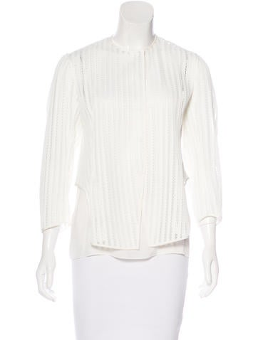 Christian Dior Structured Long Sleeve Top None