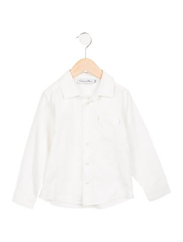 Christian dior boys 39 embroidered button up shirt boys for Christian dior button up shirt