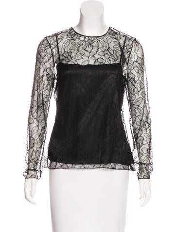 Christian Dior Long Sleeve Lace Top w/ Tags None