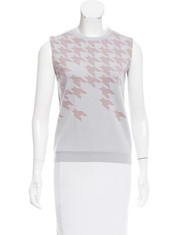 Christian Dior Patterned Wool Top None