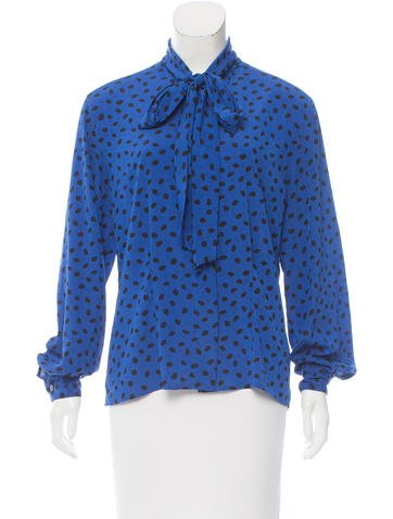 Christian Dior Spot Print Button-Up Top None