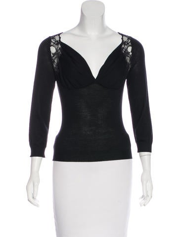 Christian Dior Wool-Blend Knit Top None